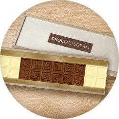 Chocotelegram nachricht aus schokobuchstaben als geschenk - Geschenke an mitarbeiter buchen ...