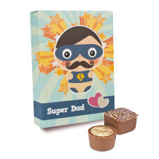 Super Dad - 6 Pralinen in lustiger Schachtel