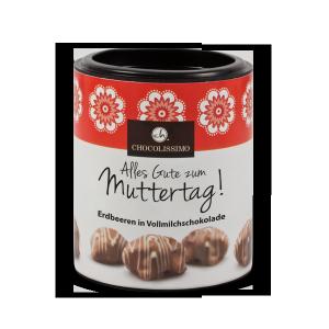Erdbeeren in Vollmilchschokolade mit Joghurt - Edition Muttertag