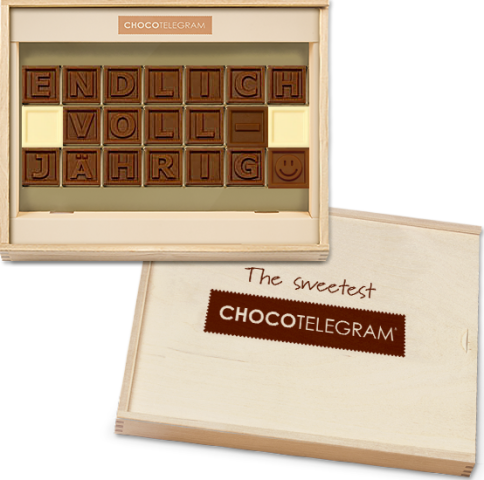 Schokolade Endlich Volljährig - ChocoTelegram