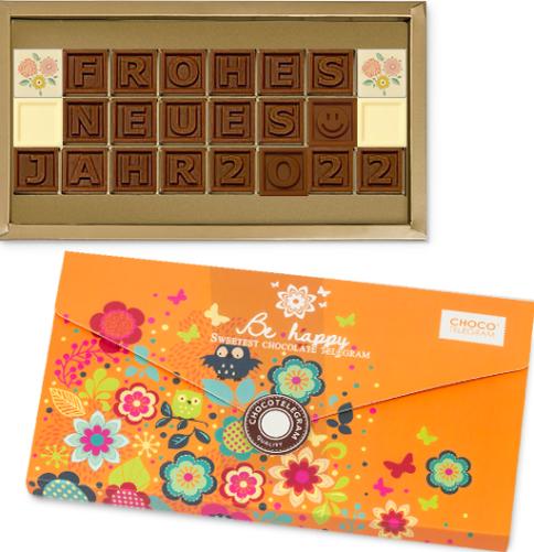 Schokolade Frohes Neues Jahr 2022