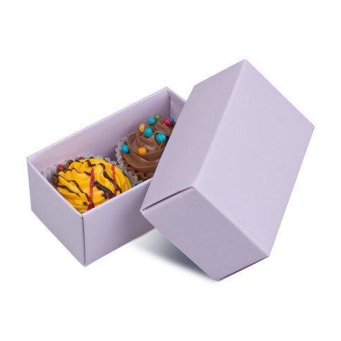 Chocolissimo 2 Cupcakes - Cupcake-Pralinen in violetter Verpackung