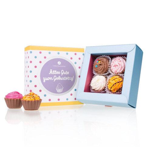 Köstlichsüsses - 4 American Cupcakes Geburtstag - Onlineshop Chocolissimo