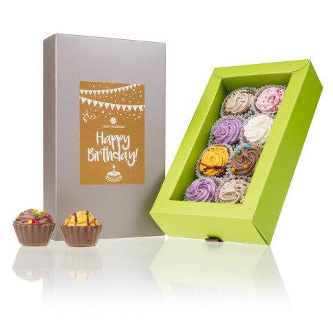 Chocolissimo 8 Birthday Cupcakes - gefüllte Cupcake-Pralinen