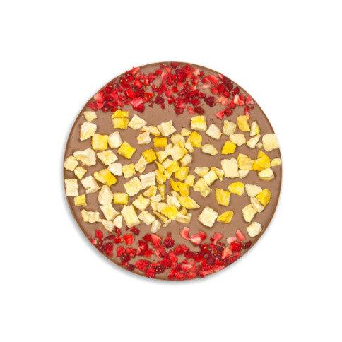 ChocoBall 'Spanien' mit Erdbeeren, Pfirsich
