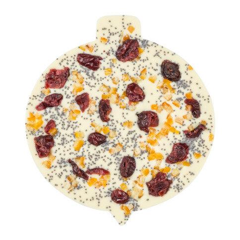 ChocoChristbaumkugel mit Mohn, Cranberries, Orangen