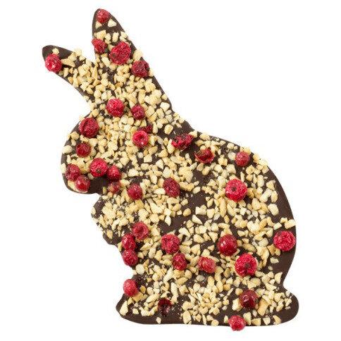ChocoHase mit Mandeln, Johannisbeeren