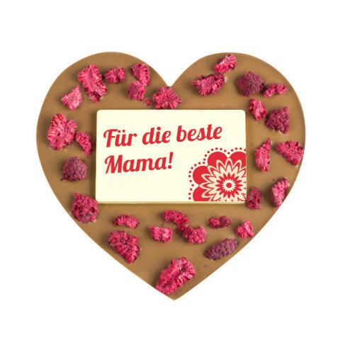 ChocoHerz 'Mama' mit Himbeeren