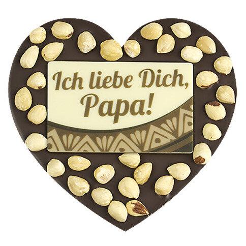 ChocoHerz 'Papa' mit Haselnüssen