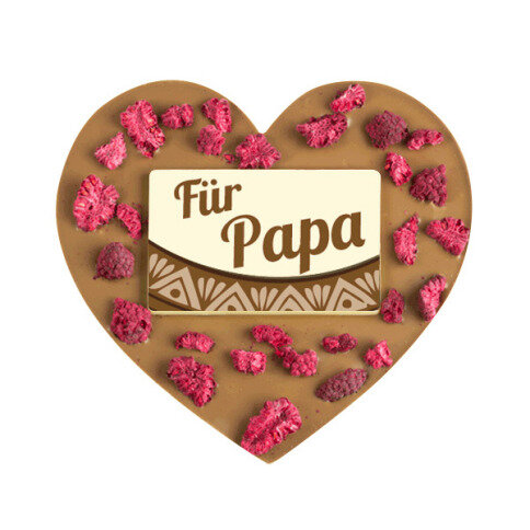 ChocoHerz 'Papa' mit Himbeeren