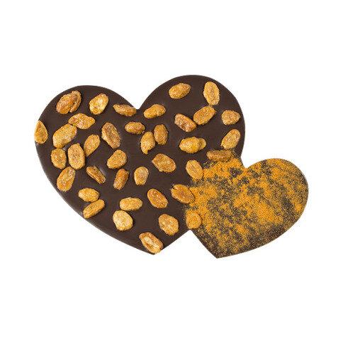 ChocoHerzen mit Chili, Erdnüssen