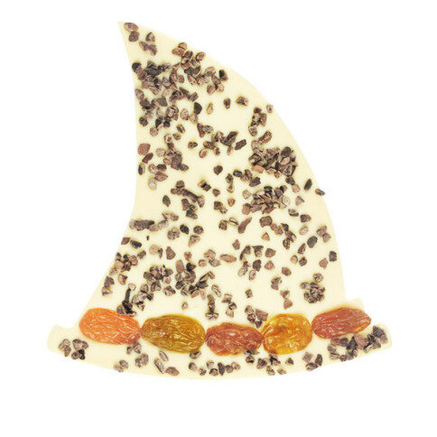 ChocoHexenhut mit Kakaobohnen, Rosinen