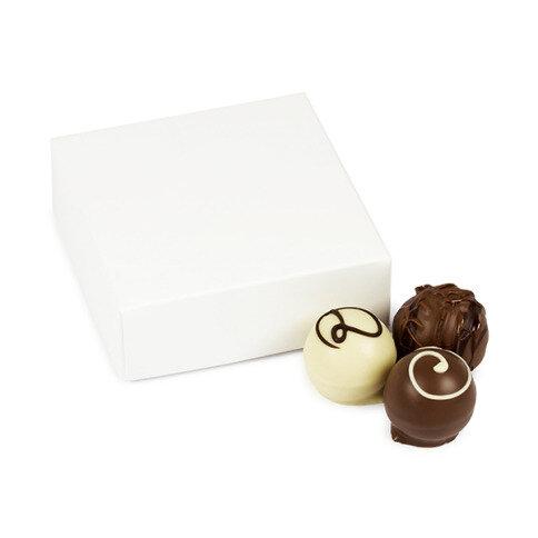 Chocolissimo Just White - 4 Pralinen als Hochzeits-Gastgeschenk