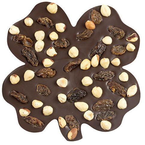 ChocoKleeblatt mit Haselnüssen, Rosinen