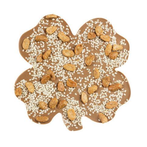 ChocoKleeblatt mit Sesam, Erdnüssen
