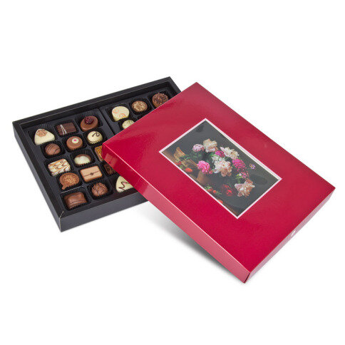 Individuellfotogeschenke - ChocoPostcard Maxi Rot - Onlineshop Chocolissimo