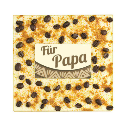 ChocoQuadrat 'Papa' mit Chili, Kaffeebohnen