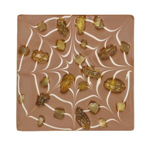 ChocoQuadrat 'Spinnennetz' mit Ananas, Rosinen