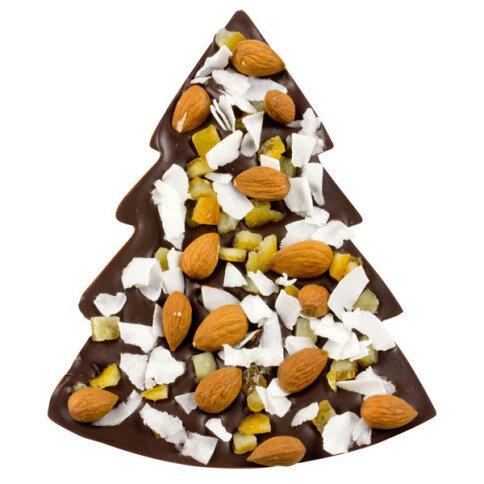 ChocoTannenbaum mit Kokos, Orangen, Mandeln