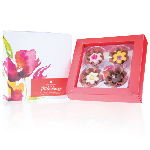 Chocolissimo Chocolate Flowers 4 - blumenförmige Pralinen