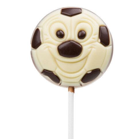 Fußball Lollipop weiße Schokolade