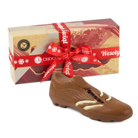 Köstlichsüsses - Fußballschuh aus Schokolade als Weihnachtsgeschenk - Onlineshop Chocolissimo