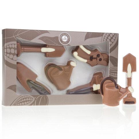 Gartenwerkzeuge aus Schokolade