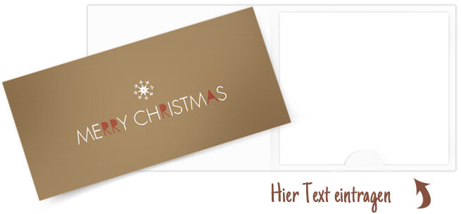 Grußkarte \'Merry Christmas\' - Grußkarte