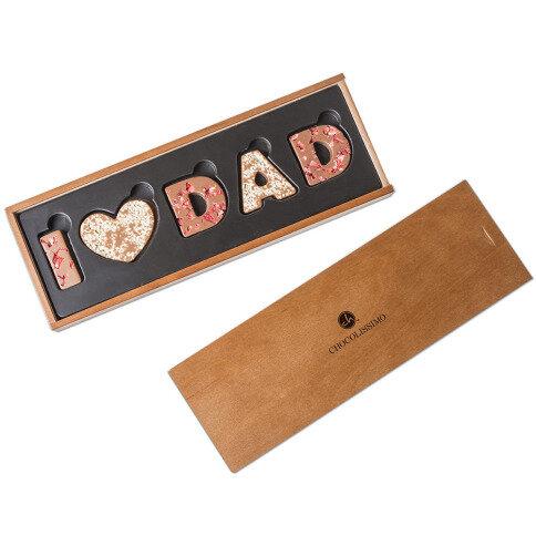 I love Dad Vollmilchschokolade