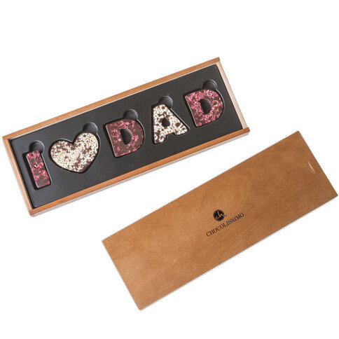 I love Dad Zartbitterschokolade