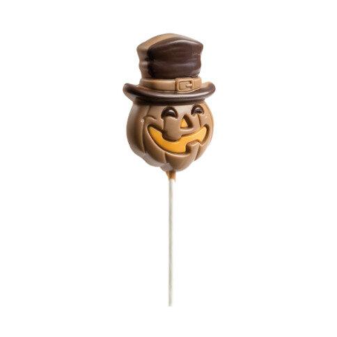 Chocolissimo Kürbis Lollipop - Lutscher aus Schokolade in Kürbis-Form