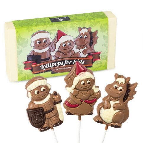 Chocolissimo Lollipops Märchenstunde - 3 Lollipops aus Schokolade