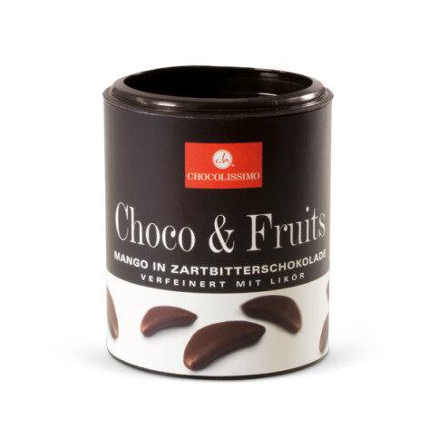 Mangos in Zartbitterschokolade