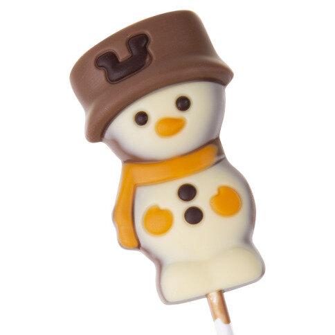 Köstlichsüsses - Schneemann Schokoladenlolli - Onlineshop Chocolissimo