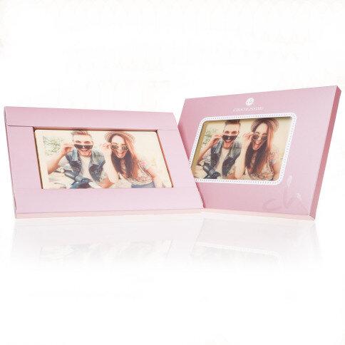 Individuellfotogeschenke - Schokolade mit Foto Rosa - Onlineshop Chocolissimo