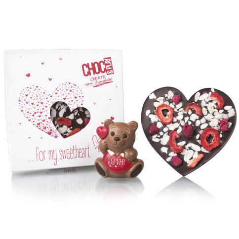 Schokoladenbär Herz Tafel