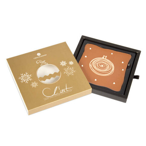 Schokoladentafel L'Art Weihnachtskugel