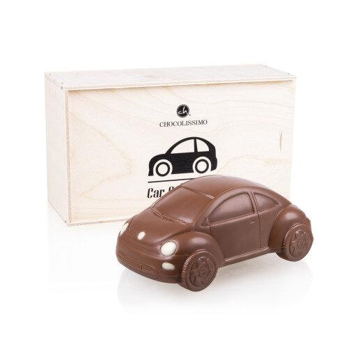 VW Beetle Schokoladenauto in Holzkästchen