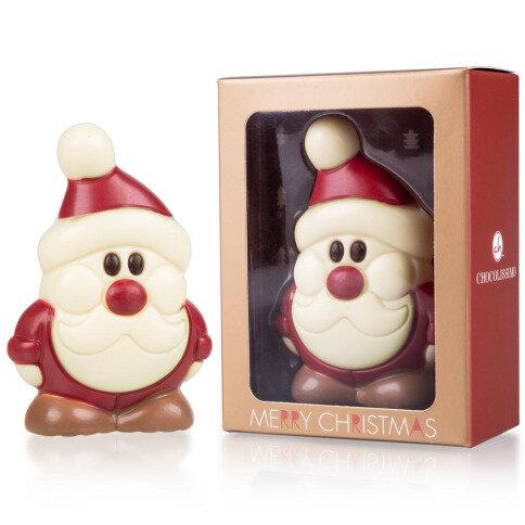 - Schokoladen Weihnachtsmann aus weißer Schokolade - Onlineshop Chocolissimo