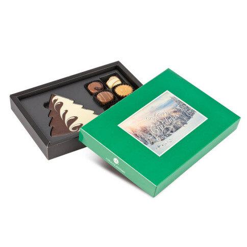Xmas ChocoPostcard Midi Green