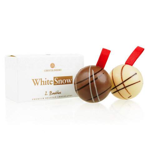 Köstlichsüsses - Xmas Kugeln Duo Vollmilch und weiße Schokolade - Onlineshop Chocolissimo