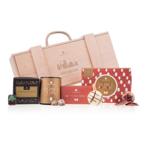 Schokoladen Präsentset in einer Holzbox I