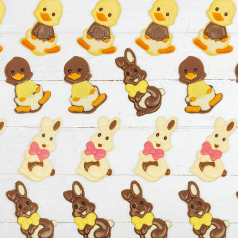 Ducks & Bunnies Postcard