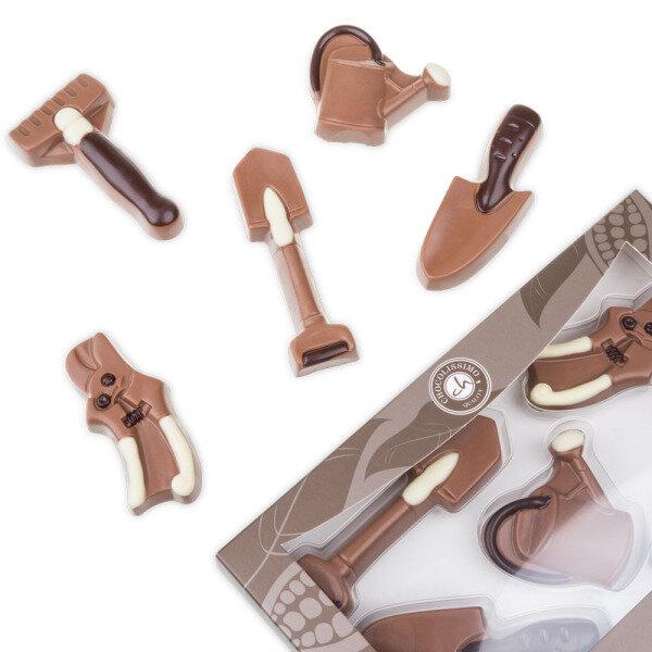 gartenwerkzeuge aus schokolade schokoladenfiguren. Black Bedroom Furniture Sets. Home Design Ideas