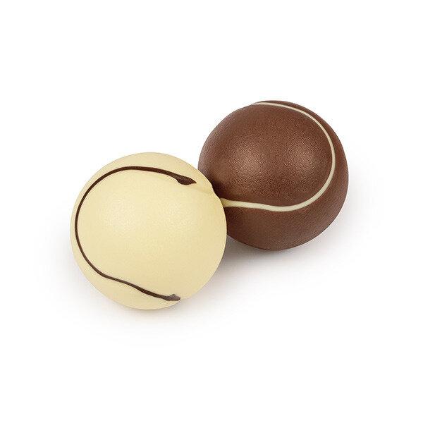 tennisb lle aus schokolade schokoladenfiguren. Black Bedroom Furniture Sets. Home Design Ideas