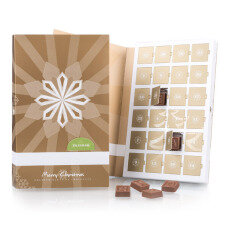 Advent Book ChocoTelegram - Adventskalender mit 24 Schokobuchstaben