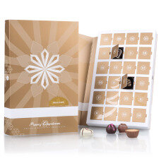 Advent Book Pralines - Adventskalender mit 24 Pralinen