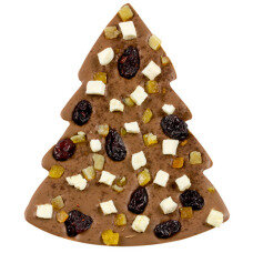 ChocoTannenbaum mit Äpfeln, Orange, Cranberries, Zimt