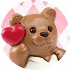 Schokoladenfiguren Zum Valentinstag